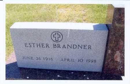 BRANDNER, ESTHER - McIntosh County, North Dakota | ESTHER BRANDNER - North Dakota Gravestone Photos