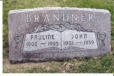 BRANDNER, PAULINE - McIntosh County, North Dakota | PAULINE BRANDNER - North Dakota Gravestone Photos
