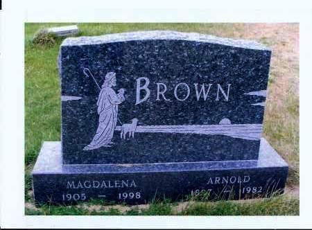 STOCK BROWN, MAGDALENA - McIntosh County, North Dakota | MAGDALENA STOCK BROWN - North Dakota Gravestone Photos