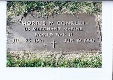 CONKLIN, MORRIS M. - McIntosh County, North Dakota   MORRIS M. CONKLIN - North Dakota Gravestone Photos