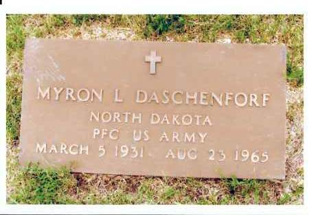 DASCHENDORF, MYRON L. - McIntosh County, North Dakota   MYRON L. DASCHENDORF - North Dakota Gravestone Photos