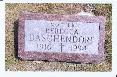 DASCHENDORF, REBECCA - McIntosh County, North Dakota | REBECCA DASCHENDORF - North Dakota Gravestone Photos