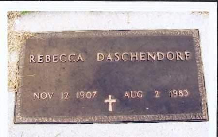 DASCHENDORF, REBECCA - McIntosh County, North Dakota | REBECCA DASCHENDORF - North Dakota Gravestone Photos