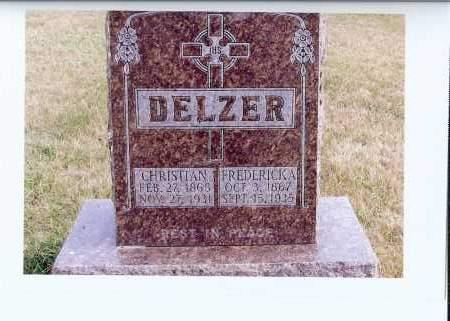 LANG DELZER, FREDERICKA - McIntosh County, North Dakota | FREDERICKA LANG DELZER - North Dakota Gravestone Photos