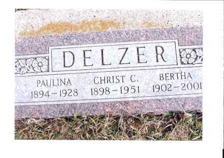 HUBER DELZER, BERTHA - McIntosh County, North Dakota | BERTHA HUBER DELZER - North Dakota Gravestone Photos