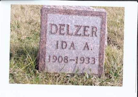 DELZER, IDA A. - McIntosh County, North Dakota | IDA A. DELZER - North Dakota Gravestone Photos