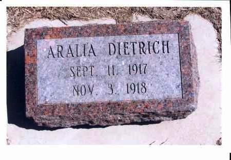 DIETRICH, ARALIA - McIntosh County, North Dakota | ARALIA DIETRICH - North Dakota Gravestone Photos