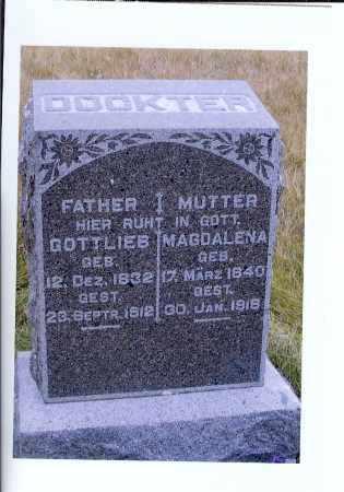 BENDER DOCKTER, MAGDALENA - McIntosh County, North Dakota | MAGDALENA BENDER DOCKTER - North Dakota Gravestone Photos