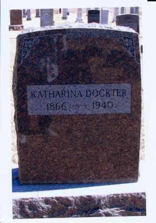 HEINE DOCKTER, KATHARINA - McIntosh County, North Dakota | KATHARINA HEINE DOCKTER - North Dakota Gravestone Photos