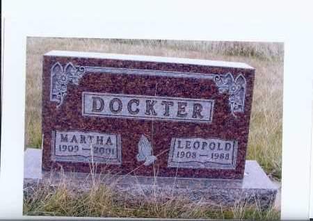 SCHLEPP DOCKTER, MARTHA - McIntosh County, North Dakota   MARTHA SCHLEPP DOCKTER - North Dakota Gravestone Photos
