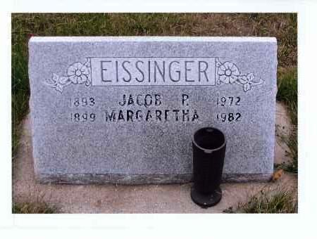 BOHLMAN EISSINGER, MARGARETHA - McIntosh County, North Dakota | MARGARETHA BOHLMAN EISSINGER - North Dakota Gravestone Photos