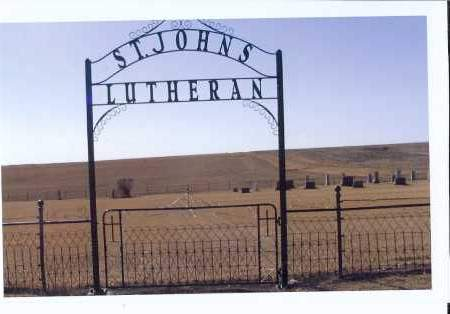 ENTRANCE GATE, ST. JOHNS LUTHERAN CEMETERY - McIntosh County, North Dakota | ST. JOHNS LUTHERAN CEMETERY ENTRANCE GATE - North Dakota Gravestone Photos