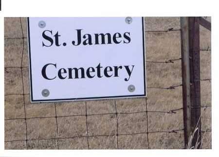 ENTRANCE SIGN FOR ST. JAMES  C, ST. JACOB'S EVANGELICAL LUTHRAN - McIntosh County, North Dakota | ST. JACOB'S EVANGELICAL LUTHRAN ENTRANCE SIGN FOR ST. JAMES  C - North Dakota Gravestone Photos