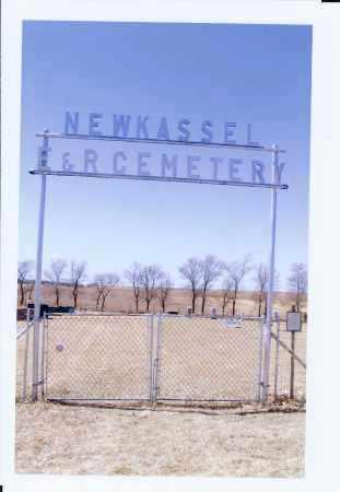 ENTRANCE SIGN, NEW KASSEL E & R CEMETERY - McIntosh County, North Dakota | NEW KASSEL E & R CEMETERY ENTRANCE SIGN - North Dakota Gravestone Photos