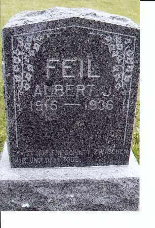 FEIL, ALBERT J. - McIntosh County, North Dakota | ALBERT J. FEIL - North Dakota Gravestone Photos