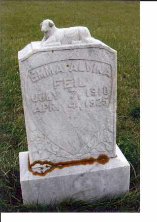 FEIL, EMMA ALVINA - McIntosh County, North Dakota | EMMA ALVINA FEIL - North Dakota Gravestone Photos