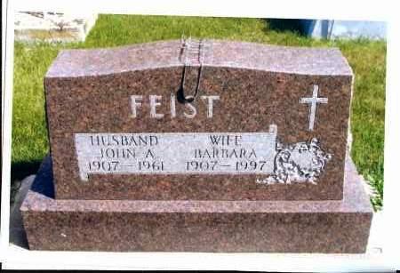 FEIST, JOHN A. - McIntosh County, North Dakota | JOHN A. FEIST - North Dakota Gravestone Photos
