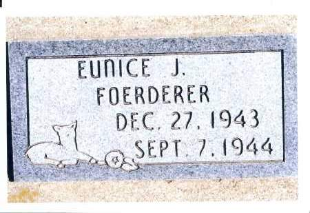 FOERDERER, EUNICE J. - McIntosh County, North Dakota | EUNICE J. FOERDERER - North Dakota Gravestone Photos