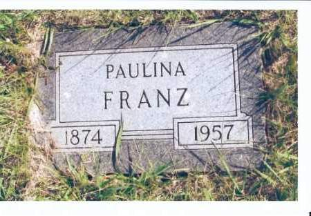 FRANZ, PAULINA - McIntosh County, North Dakota | PAULINA FRANZ - North Dakota Gravestone Photos