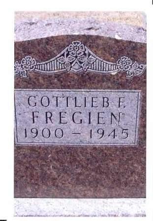 FREGIEN, GOTTLIEB F. - McIntosh County, North Dakota | GOTTLIEB F. FREGIEN - North Dakota Gravestone Photos