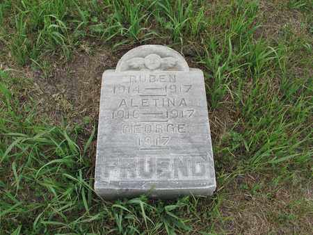 FRUEND 032, RUBEN - McIntosh County, North Dakota | RUBEN FRUEND 032 - North Dakota Gravestone Photos