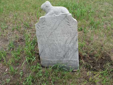 GIESER 025, WILLIE - McIntosh County, North Dakota   WILLIE GIESER 025 - North Dakota Gravestone Photos