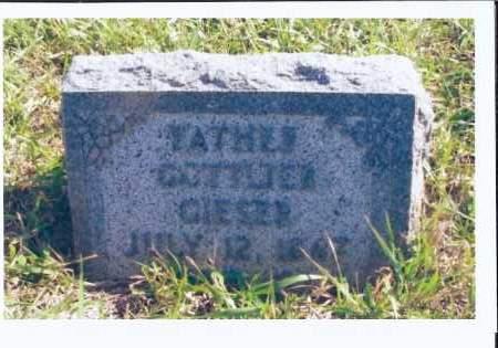 GIESER, GOTTLIEB - McIntosh County, North Dakota   GOTTLIEB GIESER - North Dakota Gravestone Photos