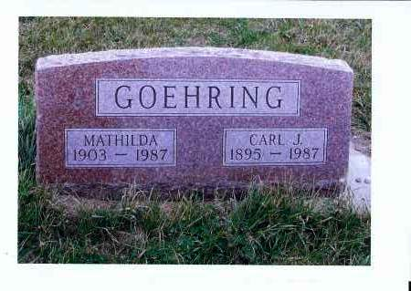 GOEHRING, MATHILDA - McIntosh County, North Dakota | MATHILDA GOEHRING - North Dakota Gravestone Photos
