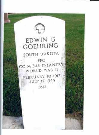 GOEHRING, EDWIN G. - McIntosh County, North Dakota | EDWIN G. GOEHRING - North Dakota Gravestone Photos