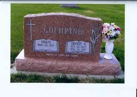 GOEHRING, ERNEST G. - McIntosh County, North Dakota   ERNEST G. GOEHRING - North Dakota Gravestone Photos