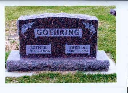 GOEHRING, FRED A. - McIntosh County, North Dakota | FRED A. GOEHRING - North Dakota Gravestone Photos