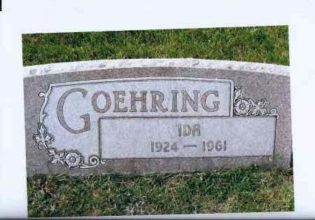 GOEHRING, IDA - McIntosh County, North Dakota   IDA GOEHRING - North Dakota Gravestone Photos