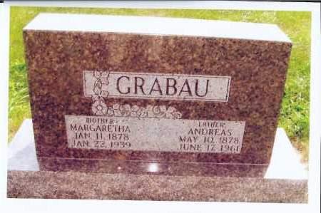 GRABAU, ANDREAS - McIntosh County, North Dakota | ANDREAS GRABAU - North Dakota Gravestone Photos