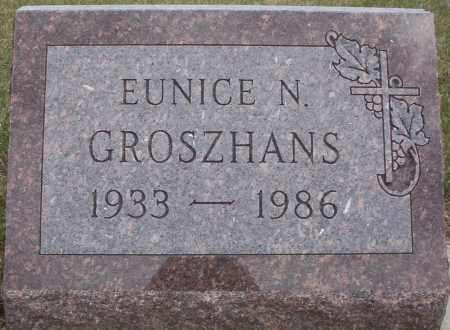 GROSZHANS, EUNICE N. - McIntosh County, North Dakota   EUNICE N. GROSZHANS - North Dakota Gravestone Photos