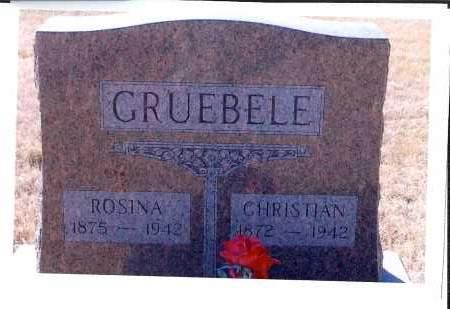 GRUEBELE, CHRISTIAN - McIntosh County, North Dakota | CHRISTIAN GRUEBELE - North Dakota Gravestone Photos