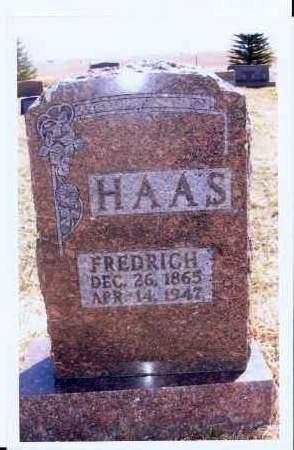 HAAS, FREDRICH - McIntosh County, North Dakota | FREDRICH HAAS - North Dakota Gravestone Photos