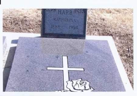 HARR, KATHERINA - McIntosh County, North Dakota   KATHERINA HARR - North Dakota Gravestone Photos