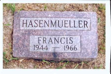 HASENMUELLER, FRANCIS - McIntosh County, North Dakota | FRANCIS HASENMUELLER - North Dakota Gravestone Photos