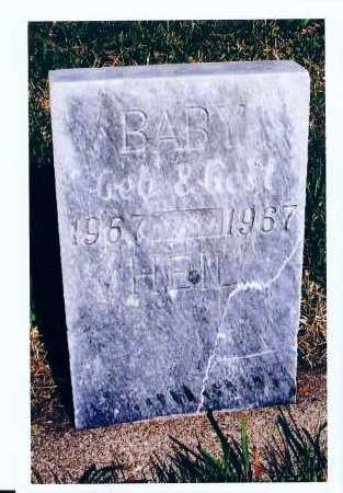 HEIL, BABY - McIntosh County, North Dakota | BABY HEIL - North Dakota Gravestone Photos