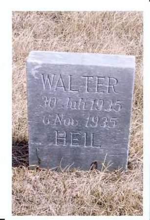 HEIL, WALTER - McIntosh County, North Dakota | WALTER HEIL - North Dakota Gravestone Photos
