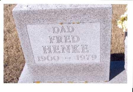 HENKE, FRED - McIntosh County, North Dakota   FRED HENKE - North Dakota Gravestone Photos