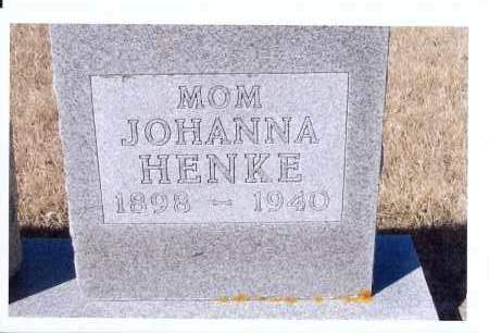 SCHNEIDER HENKE, JOHANNA - McIntosh County, North Dakota | JOHANNA SCHNEIDER HENKE - North Dakota Gravestone Photos