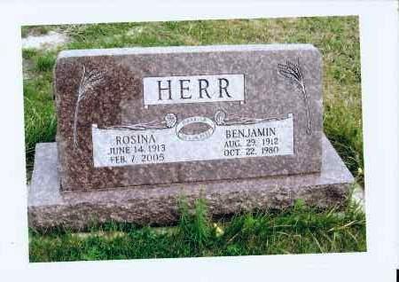 HERR, BENJAMIN - McIntosh County, North Dakota | BENJAMIN HERR - North Dakota Gravestone Photos
