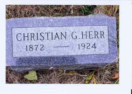 HERR, CHRISTIAN G. - McIntosh County, North Dakota | CHRISTIAN G. HERR - North Dakota Gravestone Photos
