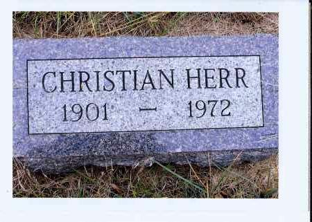 HERR, CHRISTIAN - McIntosh County, North Dakota | CHRISTIAN HERR - North Dakota Gravestone Photos