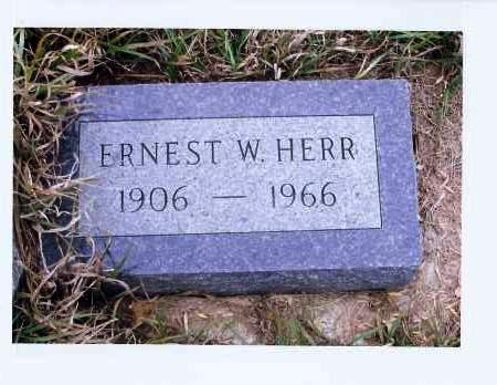 HERR, ERNEST W. - McIntosh County, North Dakota   ERNEST W. HERR - North Dakota Gravestone Photos