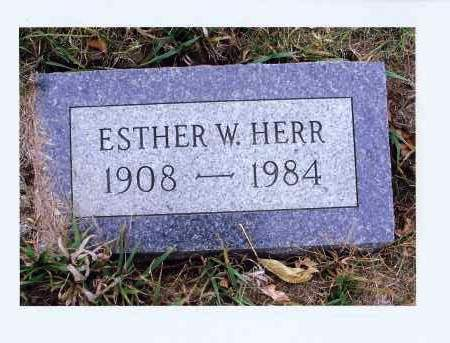 HERR, ESTHER W. - McIntosh County, North Dakota | ESTHER W. HERR - North Dakota Gravestone Photos