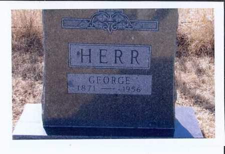 HERR, GEORGE - McIntosh County, North Dakota | GEORGE HERR - North Dakota Gravestone Photos