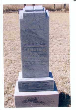 HIEB, CHRISTINA - McIntosh County, North Dakota | CHRISTINA HIEB - North Dakota Gravestone Photos