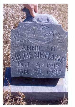 HILDENBRAND, ANNIE B. - McIntosh County, North Dakota | ANNIE B. HILDENBRAND - North Dakota Gravestone Photos